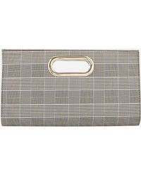Ashley Stewart - Plaid Cutout Handle Clutch - Lyst