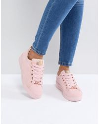 Ted Baker - Pink Suede Colour Drench Trainers - Lyst