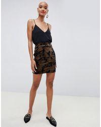 c9116f99dd Minimum 3/4 Length Skirt in Black - Lyst