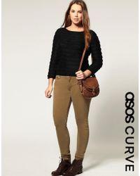 ASOS Camel Skinny Jeans - Natural