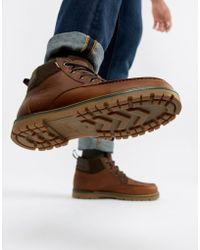TOMS - Hawthorne Waterproof Lace Up Boots In Brown - Lyst