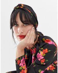 ASOS - Twist Block Headscarf In Bright Floral - Lyst