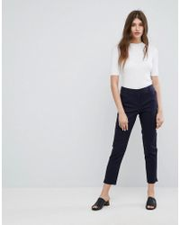 Warehouse - Cropped Tailored Pants - Lyst