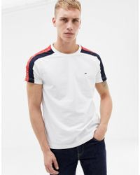 2af7d03f Tommy Hilfiger - Sports Capsule Side Tape Logo T-shirt In White - Lyst