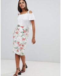 Missguided - Printed Pencil Skirt - Lyst