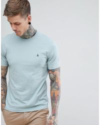 Original Penguin - Pinpoint T-shirt Small Logo In Pale Blue - Lyst