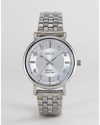 Breda - 5017a Unisex Stainless Steel Watch In Silver - Lyst