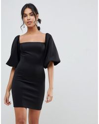 ASOS - Puff Sleeve Mini Dress - Lyst
