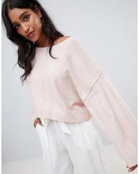 Micha Lounge - Oversized Cropped Jumper - Lyst