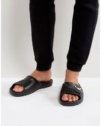 Nike - Nike Sliders In Black 716985-011 - Lyst