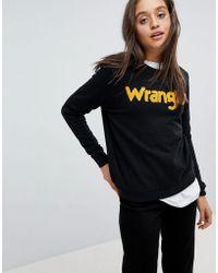 Wrangler - Sweatshirt With Borg Logo - Lyst