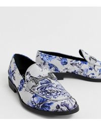 5b5f200899 ASOS - Loafers In Multi Floral Print With Snaffle - Lyst
