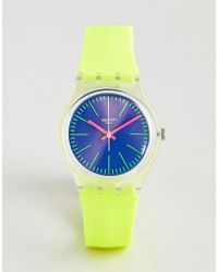 Swatch - Ge255 Accecante Silicone Watch In Neon - Lyst
