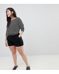 ASOS - Asos Design Curve Chino Shorts In Black - Lyst