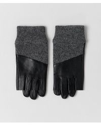ASOS - Leather Gloves With Rib Cuffs And Touch Screen - Lyst