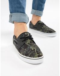 ASOS - Design Boat Shoes In Black Floral Holiday Print - Lyst