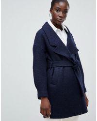 SELECTED - Femme Wrap Wool Coat - Lyst