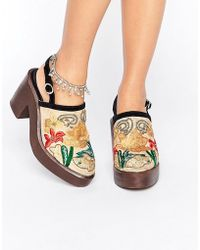 Free People - Embroidered Clog - Lyst