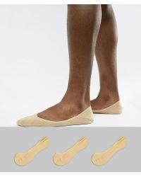 Polo Ralph Lauren - 3 Pack No Show Socks In Beige - Lyst