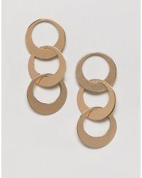Miss Selfridge - Interlink Drop Earrings - Lyst