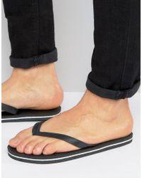 ASOS - Flip Flops In Black - Lyst