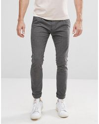 SELECTED - Slim Fit Trousers - Lyst