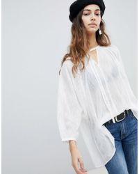 Soaked In Luxury - Oversize Cotton Blouse - Lyst