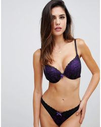 8f5916478e3fe Ann Summers - Darcy Double Boost Padded Plunge Bra In Purple - Lyst