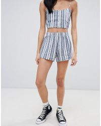 Pull&Bear - Two-piece Stripe Shorts - Lyst