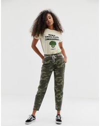 Pull&Bear - High Waisted Trouser In Camo Print - Lyst