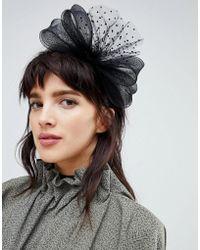 ASOS - Design Occasion Polka Dot Mesh Bow Fascinator Headband - Lyst