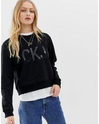 Calvin Klein - Institutional Vinyl Logo Sweatshirt - Lyst