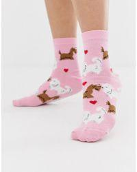 ASOS - Valentines Kissing Dog Sock - Lyst