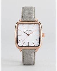 Sekonda - 2451 Square Faux-leather Watch In Grey - Lyst
