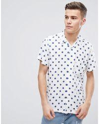 Outlet Comfortable Vintage Spot Print Shirt - Pink D-Struct Discount Footaction Discount Visa Payment Cheap Sale Shop lIISkm