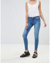 Blank NYC - One Life Stand Raw Drop Hem Skinny Jeans - Lyst