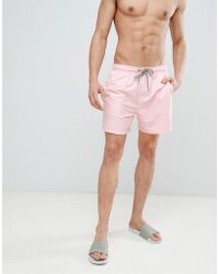 New Look - Swim Shorts In Pink - Lyst
