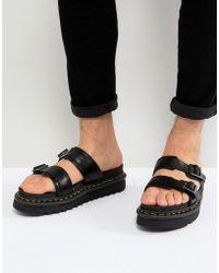 Dr. Martens - Myles Slide Sandals In Black - Lyst