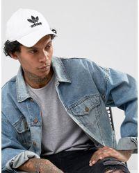 adidas Originals - Trefoil Cap In White Br9720 - Lyst