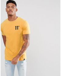 11 Degrees - Muscle T-shirt In Yellow - Lyst