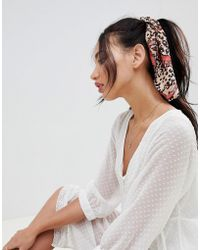 ASOS - Design Hair Scarf In Animal Print - Lyst