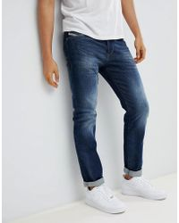 DIESEL - Buster Straight Jeans 853r Dark Blasted - Lyst