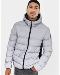 Good For Nothing - Hooded Puffer Jacket In Reflective - Lyst