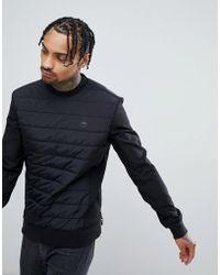 Timberland - Quilted Crew Neck Sweatshirt In Black - Lyst