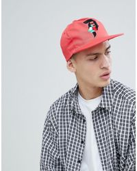 Primitive - Snapback Cap With Rose Logo In Coral - Lyst
