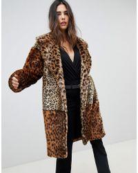 Blank NYC - Faux Fur Leopard Print Coat - Lyst