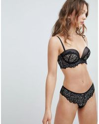 aacf92c8d2e7 New Look 2 Pack Lace Brazilian Brief in Black - Lyst
