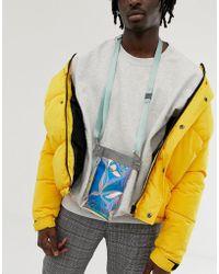 ASOS - Iridescent Neck Wallet With Lanyard - Lyst