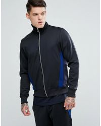 PS by Paul Smith | Zip Through Track Sweat Top In Black | Lyst