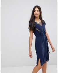 Sugarhill - Butterfly Cutwork Embroidered Dress - Lyst